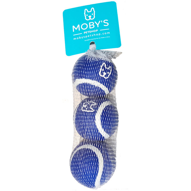 [SALE –50%] MOBY'S® Toy Tennis Balls Medium Dog & Cat Toys (3 Colours)