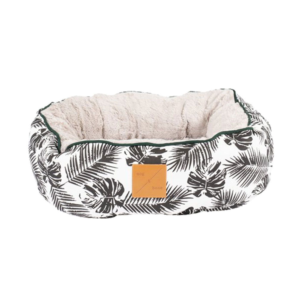 20% OFF [NEW]: Mog & Bone® Reversible Cat Bed - Black Tropical Leaves