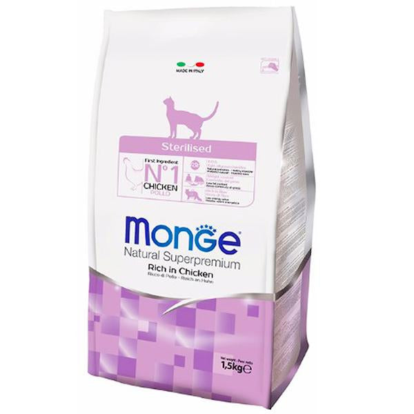 45% OFF: Monge® Sterilized Dry Cat Food (1.5kg)