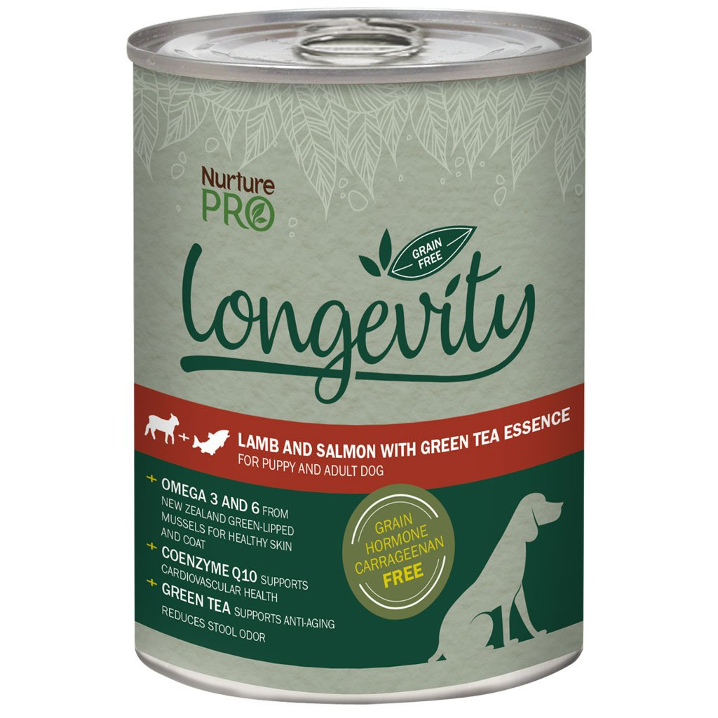 25% OFF [CNY20]: Nurture Pro® Longevity Lamb & Salmon with Green Tea Essence Grain-Free Canned Dog Food 375g (1/12pcs)