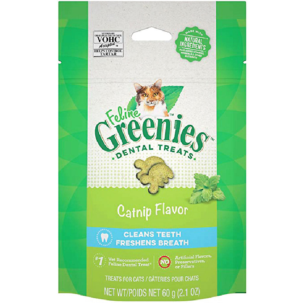 2 FOR $14 [NEW LOOK]: Greenies® Feline Catnip Dental Cat Treats (60g)