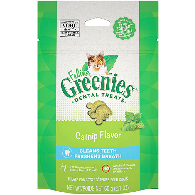 2 FOR $14 [SAVER]: Greenies® Feline Catnip Dental Cat Treats (60g)