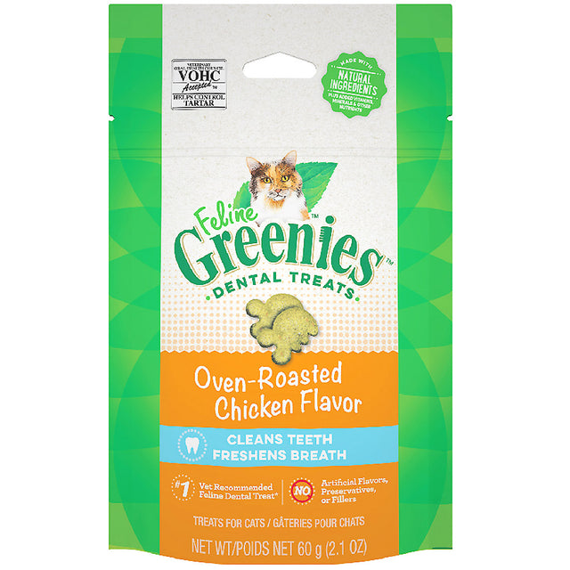 2 FOR $14 [SAVER]: Greenies® Feline Chicken Cat Dental Treats (60g)
