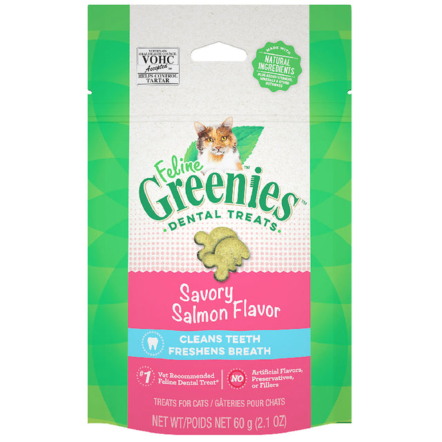 2 FOR $14 [SAVER]: Greenies® Feline Salmon Cat Dental Treats (60g)