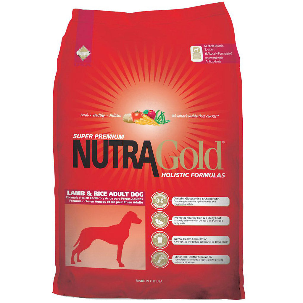 50% OFF + FREE TREATS [SAVER]: NutraGold® Holistic Lamb & Rice Dry Dog Food (3 sizes)