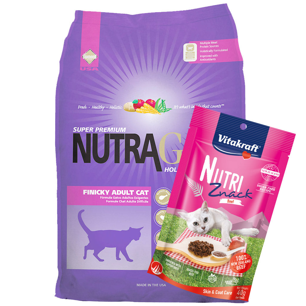 $21 ONLY + FREE TREATS: NutraGold® Holistic Finicky Cat Dry Food (2 sizes)