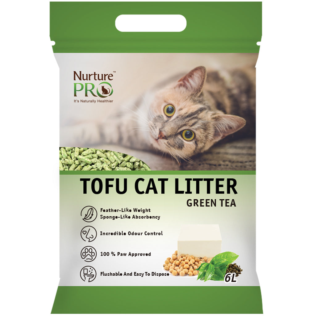 4 FOR $30 [GSS20]: Nurture Pro® Tofu Cat Litter - Green Tea (6L)