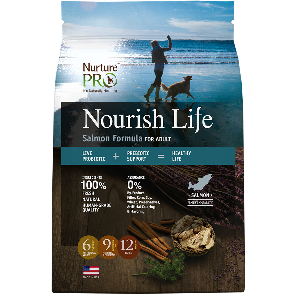 20% OFF + FREE TREATS: Nurture Pro® Nourish Life Salmon Formula Adult Dry Dog Food (3 sizes)