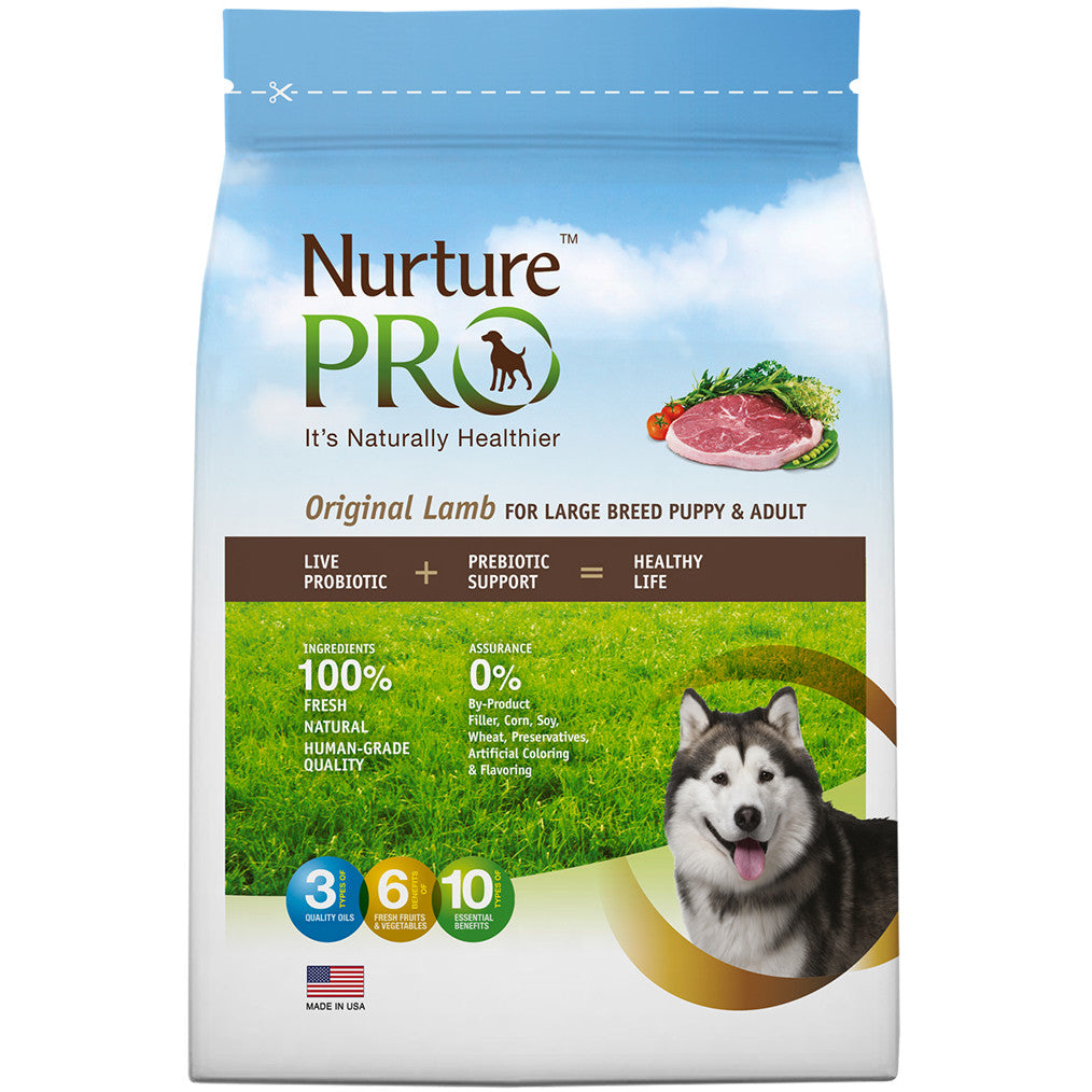 20% OFF: Nurture Pro® Original Lamb Large Breed Puppy & Adult Dry Dog Food (3 sizes)