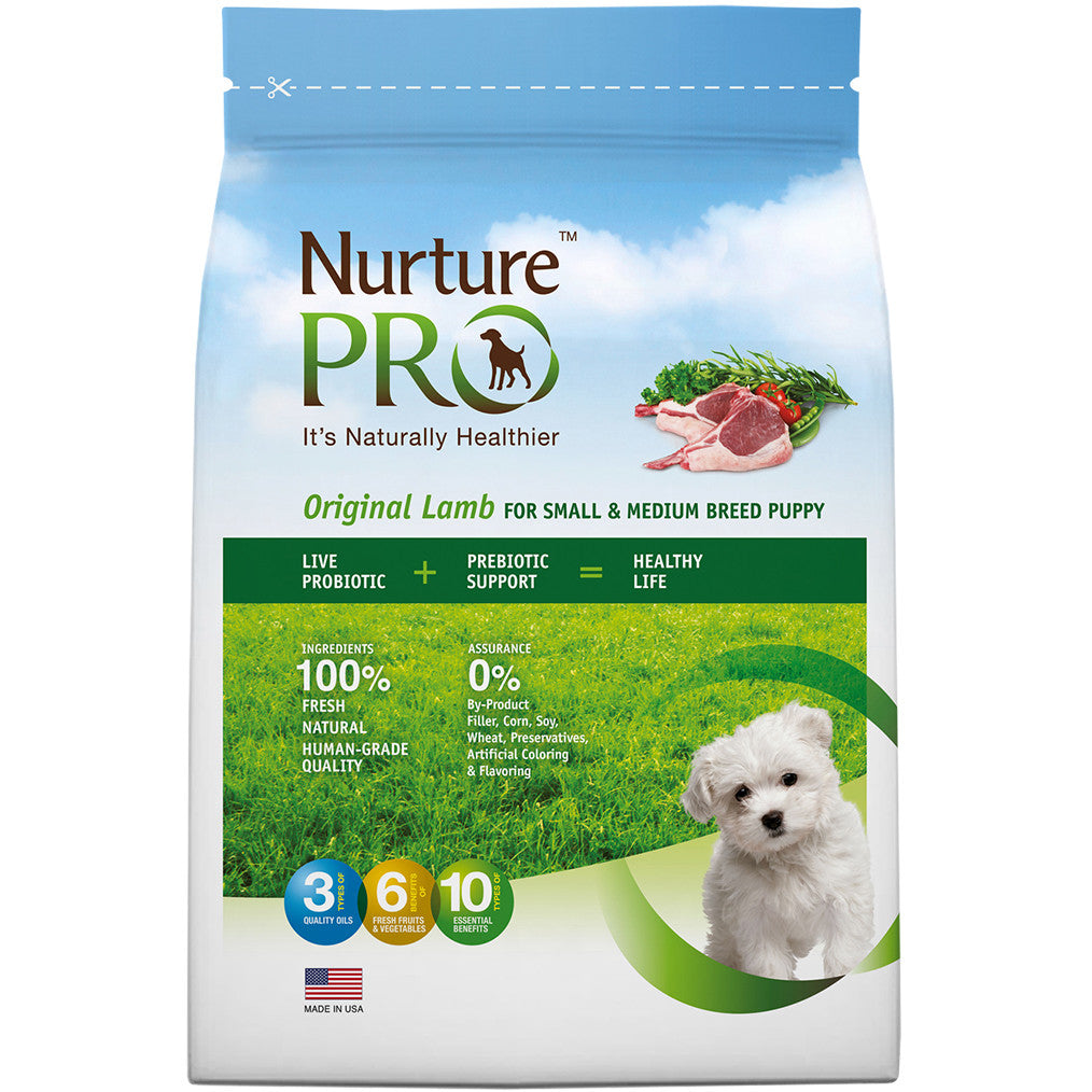 25% OFF: Nurture Pro® Original Lamb Small & Medium Breed Puppy Dry Dog Food (3 sizes)
