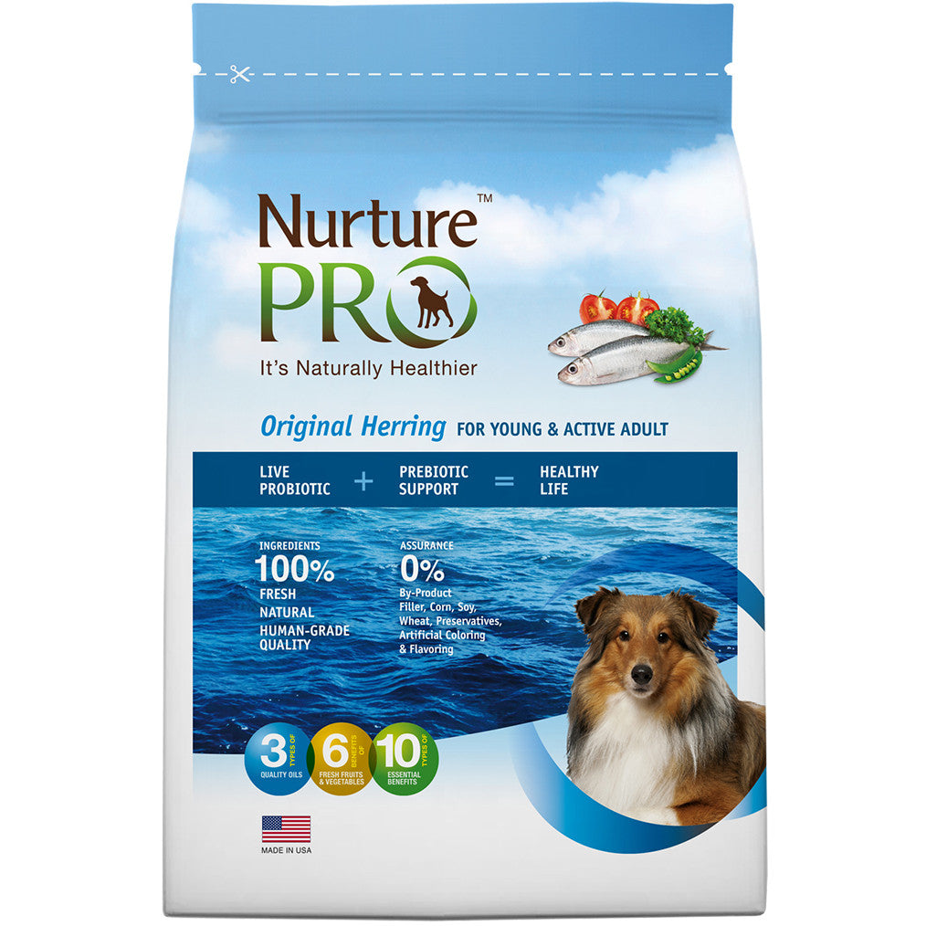 20% OFF: Nurture Pro® Original Herring Active & Young Adult Dry Dog Food (3 sizes)
