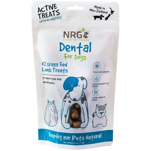 15% OFF [NEW] NRG+® Dental Health Freeze Dried Lamb Dog Treats 120g