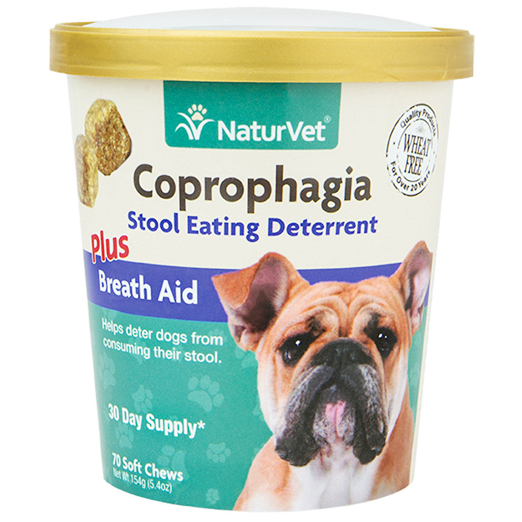 25% OFF: NaturVet® Coprophagia Stool Eating Deterrent Soft Dog Chews (70 Chews)