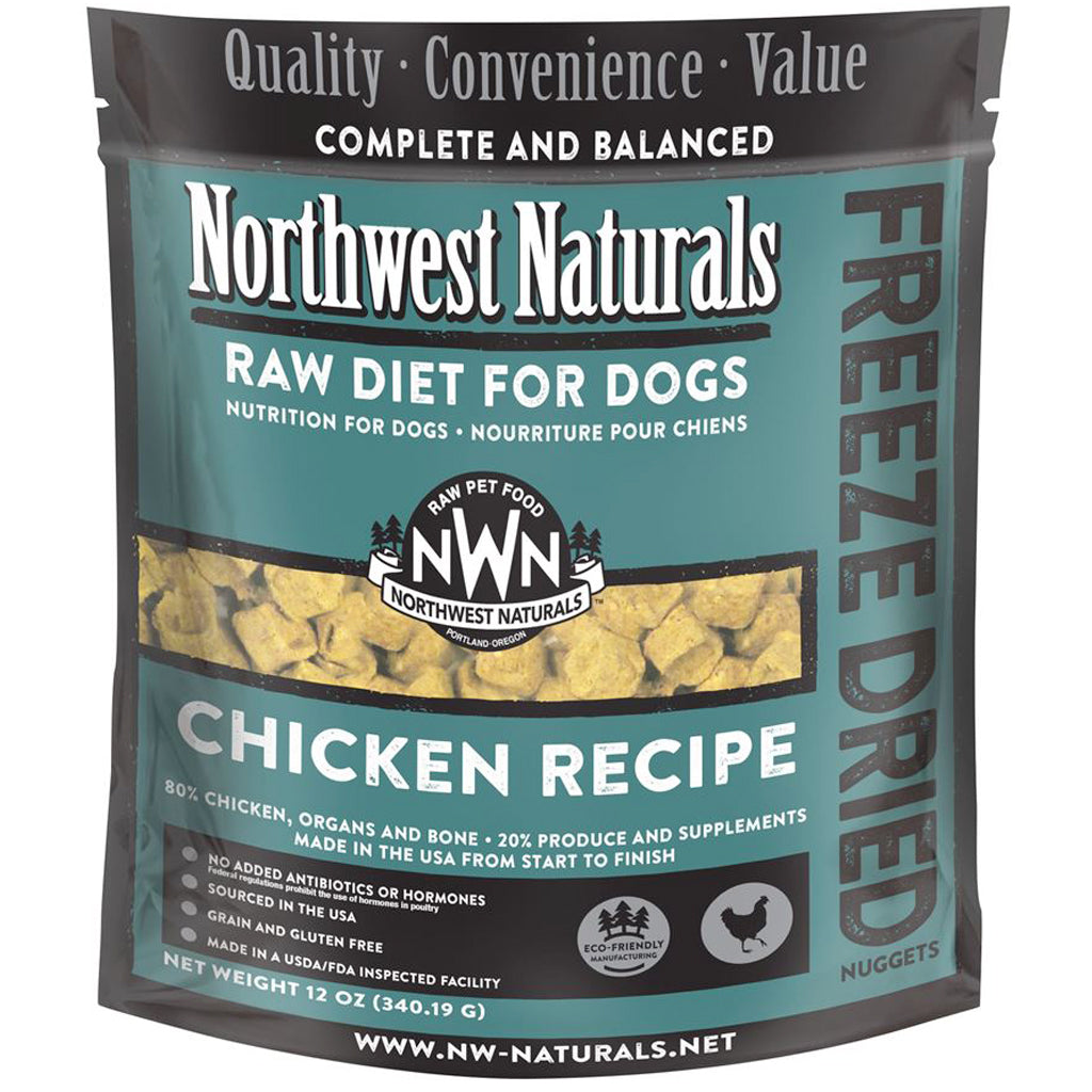 4 FOR $150 [SUPER SAVER] Northwest Naturals® Chicken Freeze-Dried Nuggets Dog Food (340g)