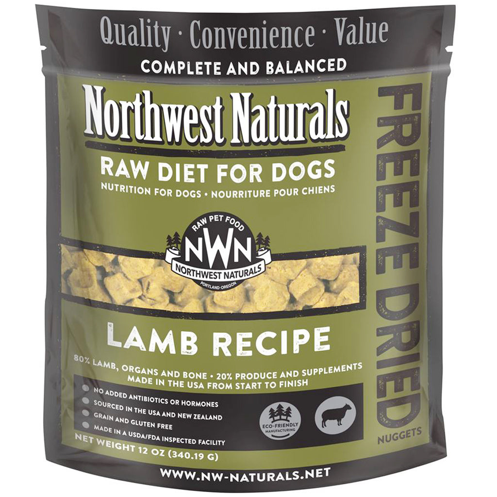 4 FOR $150 [SUPER SAVER] Northwest Naturals® Lamb Freeze-Dried Nuggets Dog Food (340g)