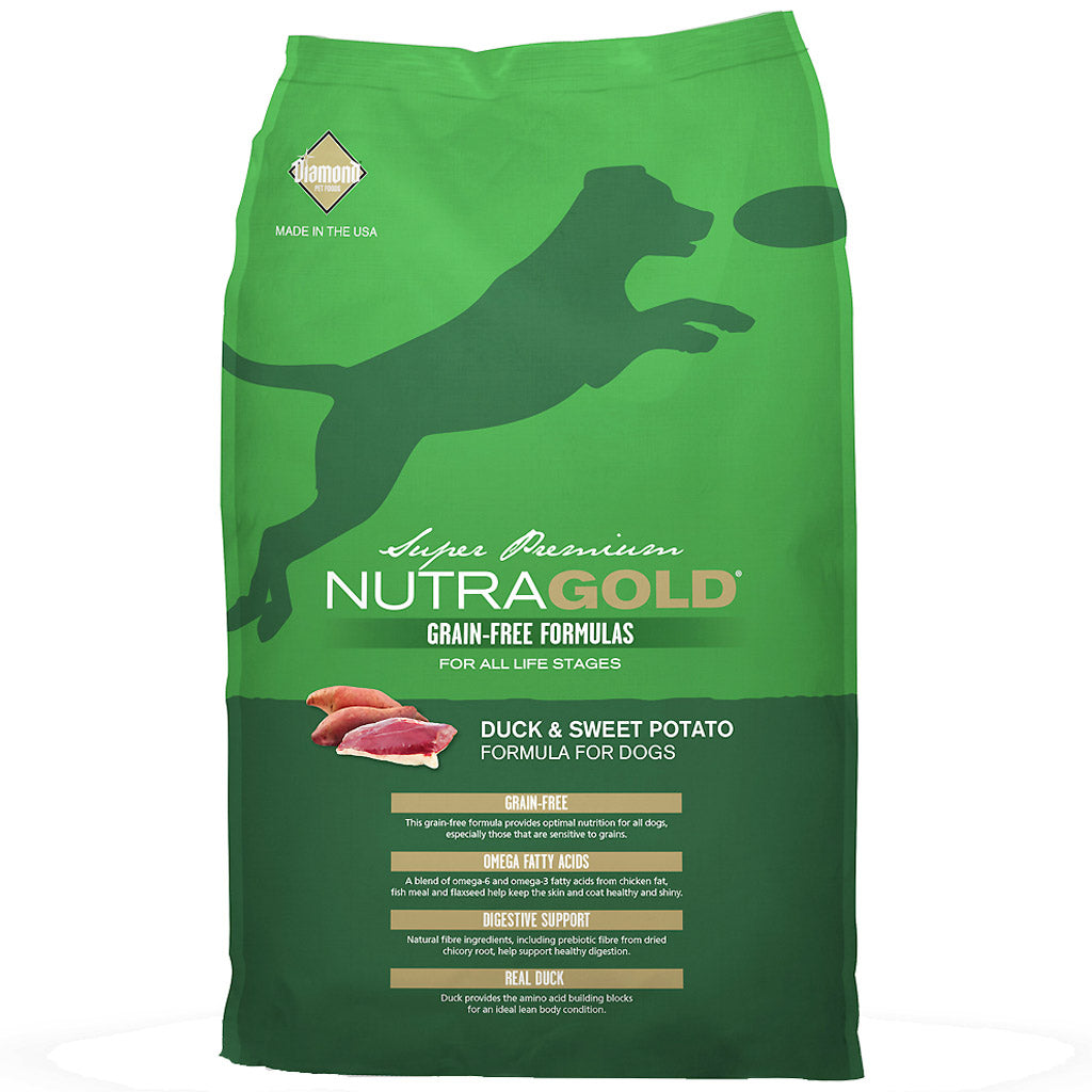 $19.90 ONLY + FREE WET FOOD & TREATS [BFCM]: NutraGold® Grain-Free Duck & Sweet Potato Dry Dog Food (2 sizes)