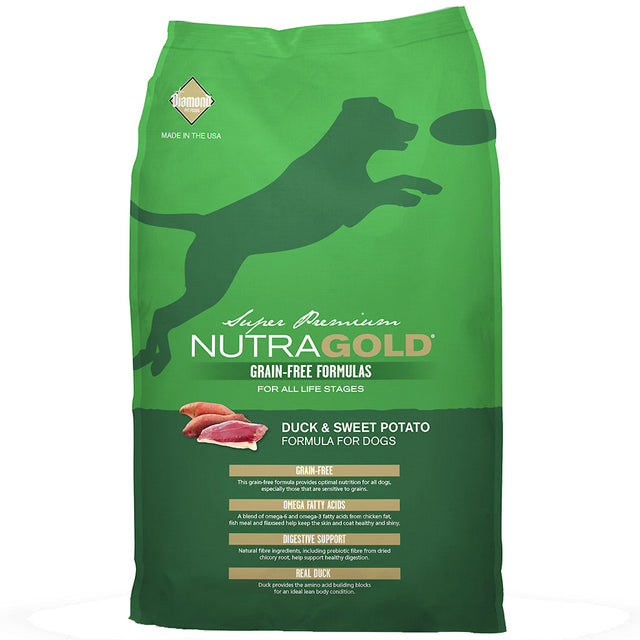 50% OFF + FREE WET FOOD: NutraGold® Grain-Free Duck & Sweet Potato Dry Dog Food (2 sizes)