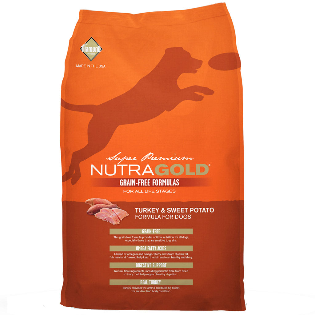 $19.50 ONLY + FREE TREATS: NutraGold® Grain-Free Turkey & Sweet Potato Dry Dog Food (2 sizes)