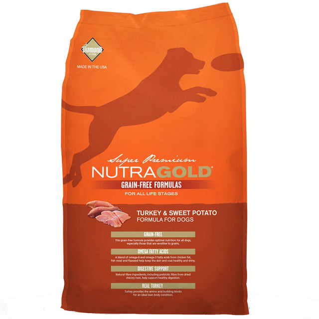 50% OFF + FREE WET FOOD: NutraGold® Grain-Free Turkey & Sweet Potato Dry Dog Food (2 sizes)