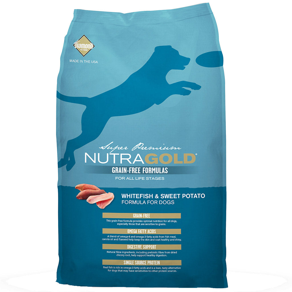 50% OFF: NutraGold® Grain-Free Whitefish & Sweet Potato Dry Dog Food (2 sizes)