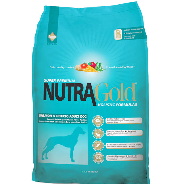 50% OFF + FREE WET FOOD: NutraGold® Holistic Salmon & Potato Dry Dog Food (2 sizes)