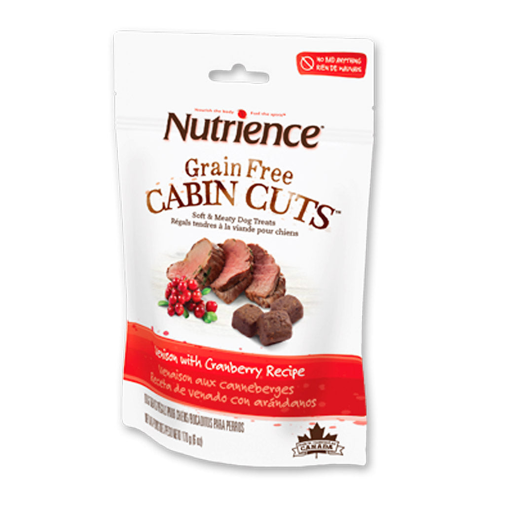 20% OFF: Nutrience® Grain-Free Cabin Cuts Venison with Cranberry Dog Treats 170g