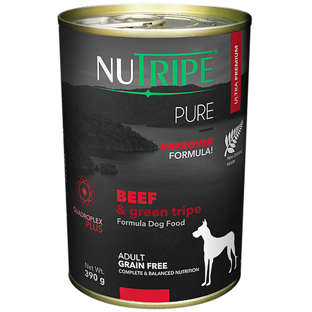 25% OFF: Nutripe® PURE Beef & Green Tripe Formula Grain-Free Canned Dog Food (6/12pcs)