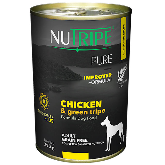 25% OFF: Nutripe® PURE Chicken & Green Tripe Formula Grain-Free Canned Dog Food (6/12pcs)