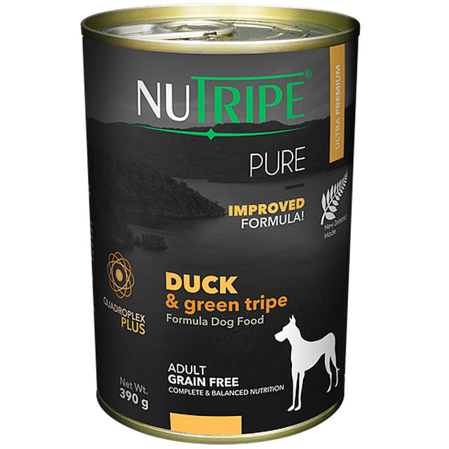 25% OFF: Nutripe® PURE Duck & Green Tripe Formula Grain-Free Canned Dog Food (6/12pcs)