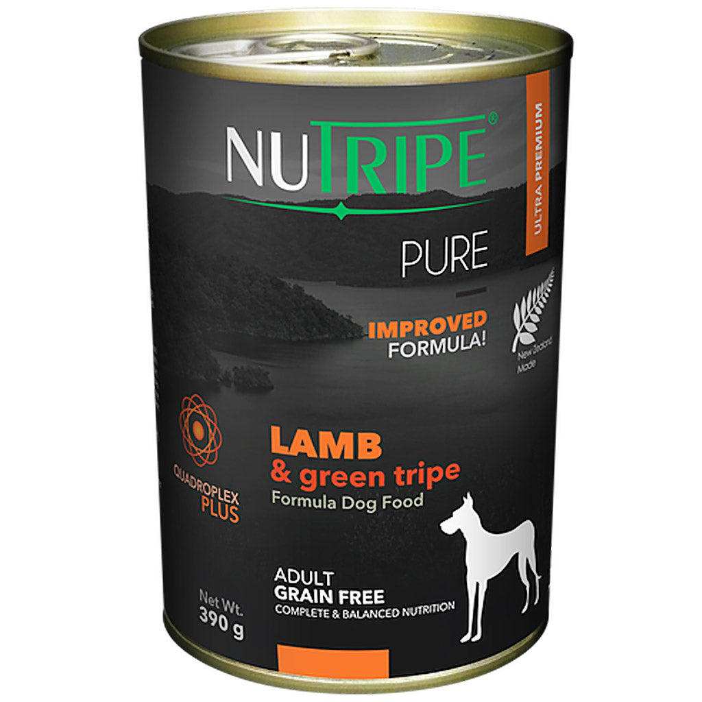 22% OFF: Nutripe® PURE Lamb & Green Tripe Formula Grain-Free Wet Dog Food (6/12pcs)