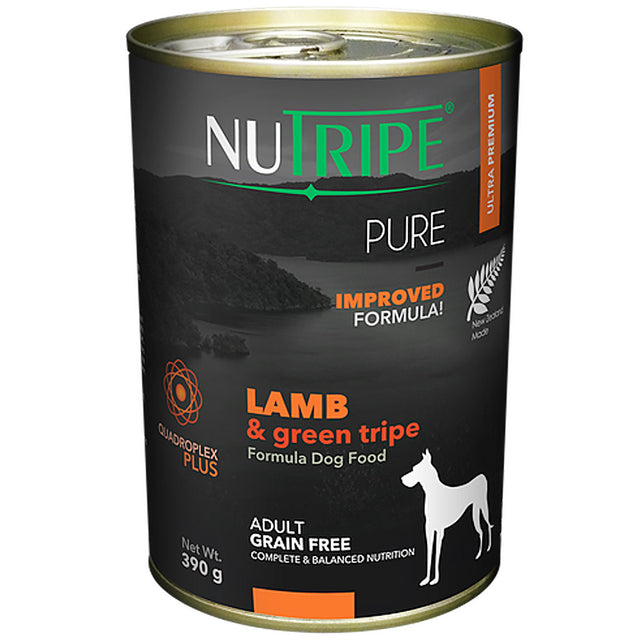 25% OFF: Nutripe® PURE Lamb & Green Tripe Formula Grain-Free Canned Dog Food (6/12pcs)