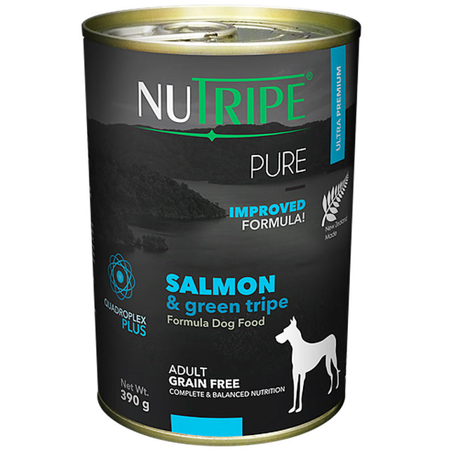 25% OFF: Nutripe® PURE Salmon & Green Tripe Formula Grain-Free Canned Dog Food (6/12pcs)