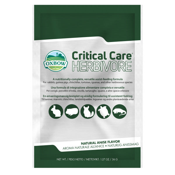 10% OFF: Oxbow® Critical Care Herbivore Anise Flavor Small Pets Powder Formula (2 sizes)