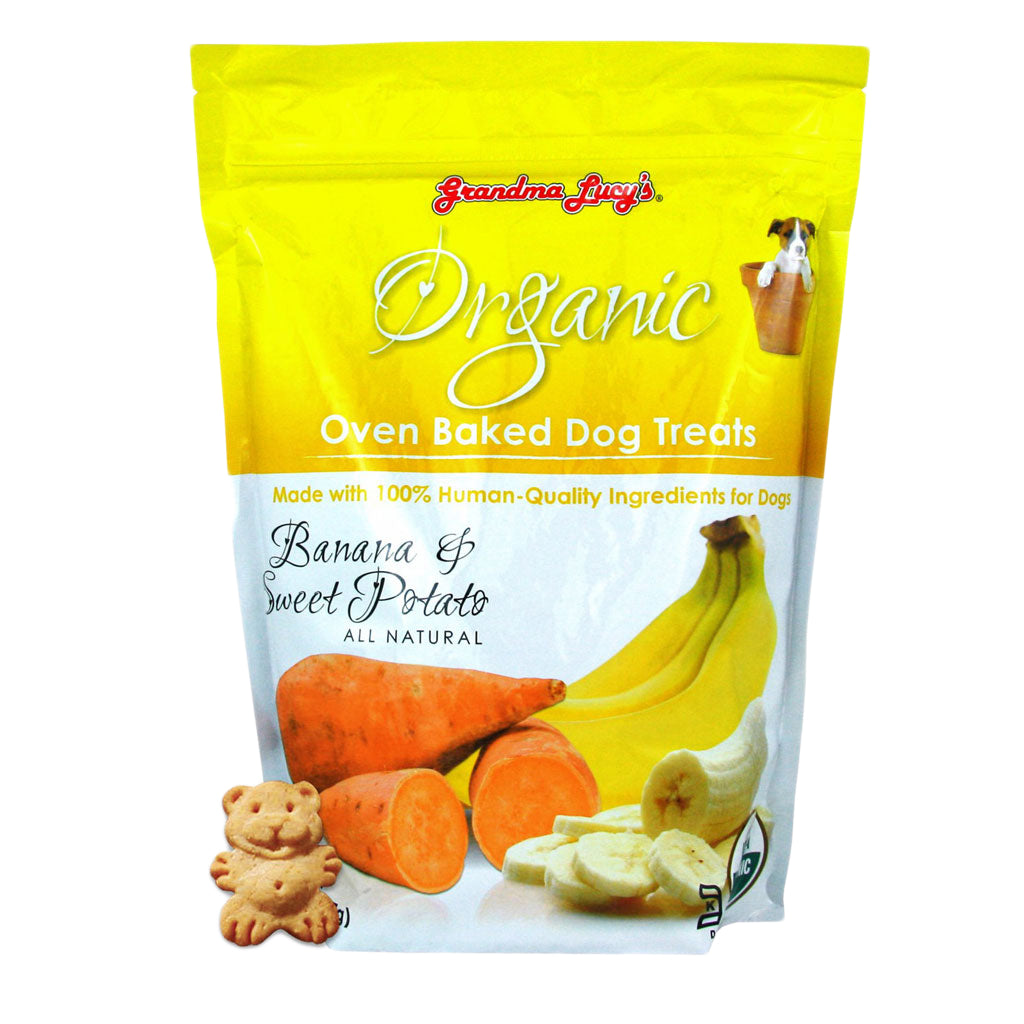 15% OFF: Grandma Lucy's® Organic Oven Baked Banana & Sweet Potato Dog Treats (397g)