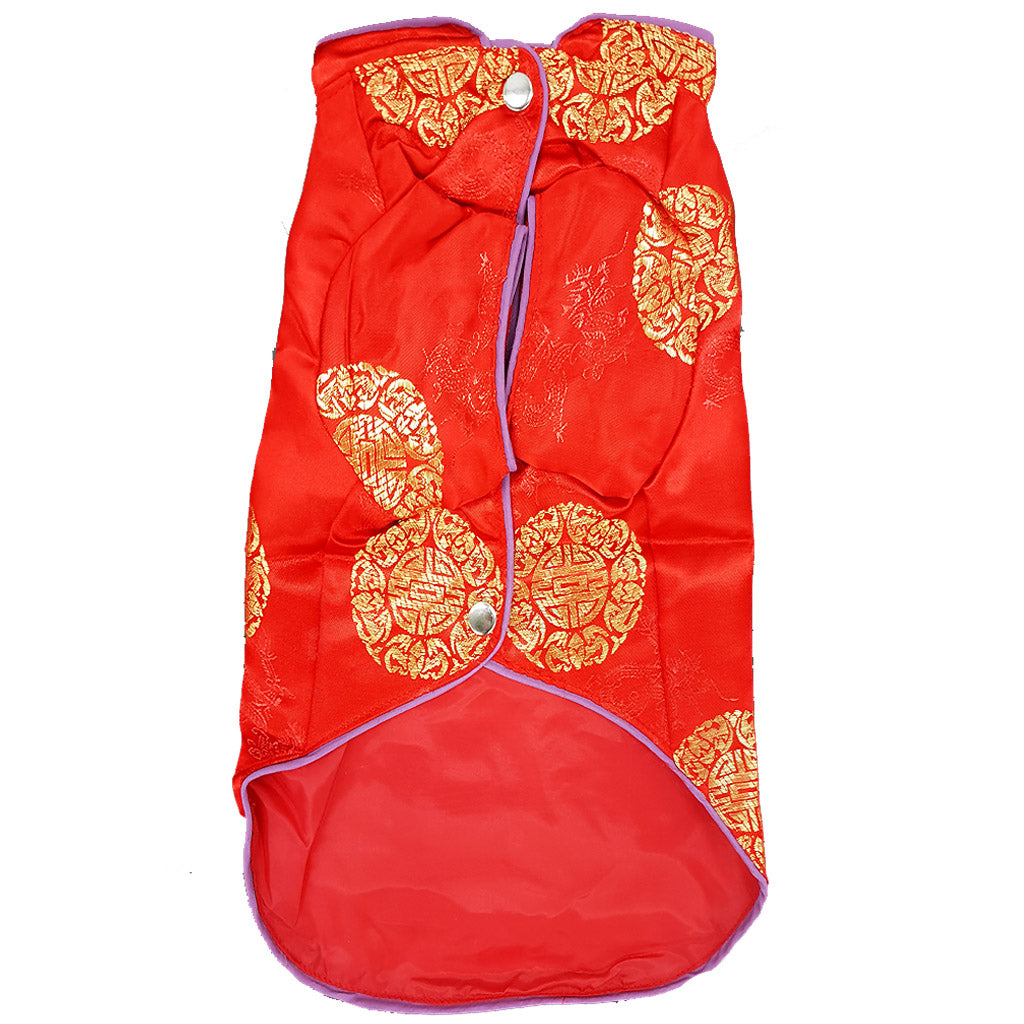 50% OFF: MOBY'S® Oriental Tang Jacket Red (Small & Medium Dogs)