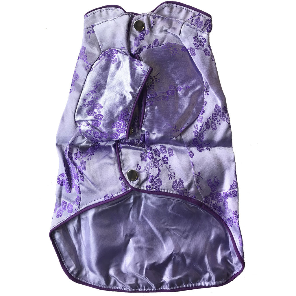 $12 ONLY [CNY21]: MOBY'S® Oriental Tang Jacket Purple (Small & Medium Dogs)
