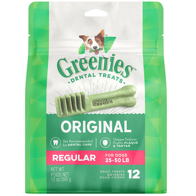 3 FOR $58 [SAVER]: Greenies® Original Regular Dog Dental Chews - 12pcs (340g)