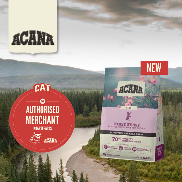 30% OFF + FREE GIFT: ACANA® First Feast Dry Cat Food 1.8kg