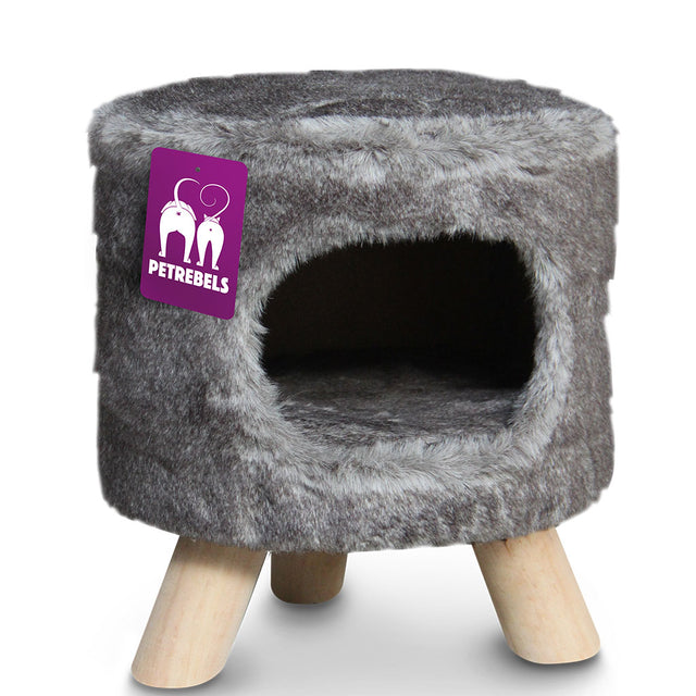 15% OFF [NEW] Petrebels® Victoria 45 Royal Cat Throne - Royal Grey