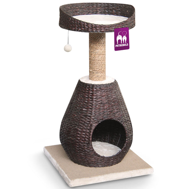 15% OFF [NEW] Petrebels® Carribean Beach 89 Cat Tree - Water Hyacinth