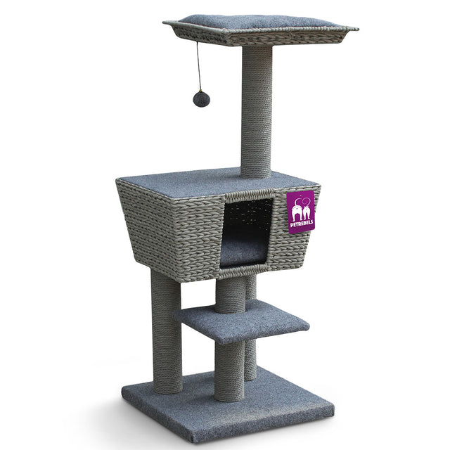 15% OFF [NEW]: Petrebels® Carribean Sun 114 Cat Tree - PR Grey