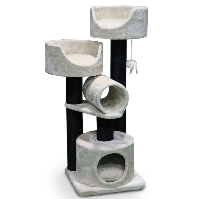 15% OFF [NEW]: Petrebels® Cabin 125 Cat Tree - Fuzzy Cream