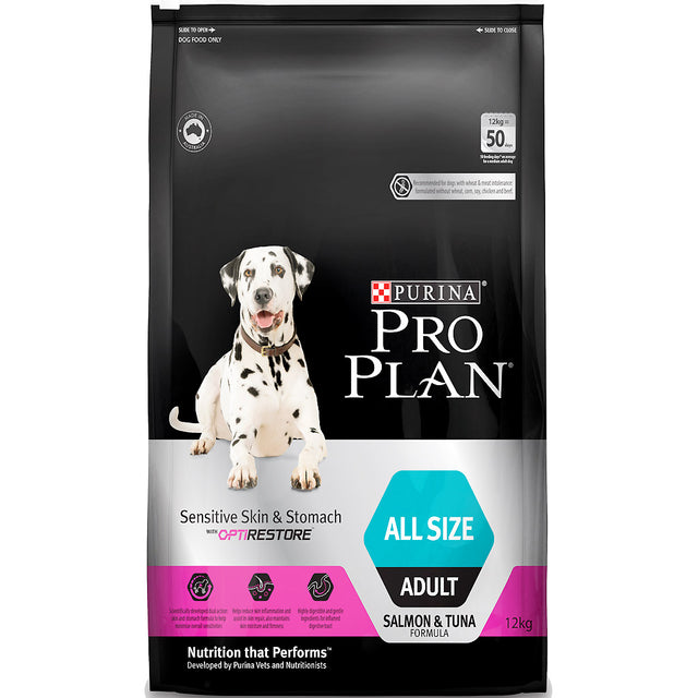 30% OFF + FREE TREATS: Pro Plan® Sensitive Skin & Stomach Adult Dry Dog Food (2 sizes)