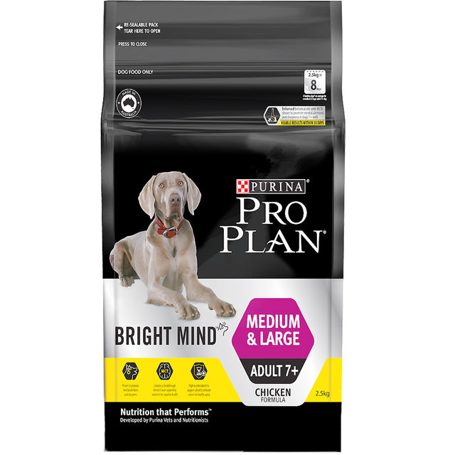 30% OFF: Pro Plan® Bright Mind Adult 7+ Large Breed Dry Dog Food (2.5kg)