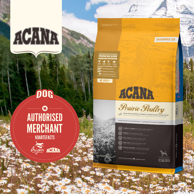 30% OFF + FREE GIFT: ACANA® Classics Prairie Poultry Dry Dog Food (2 sizes)