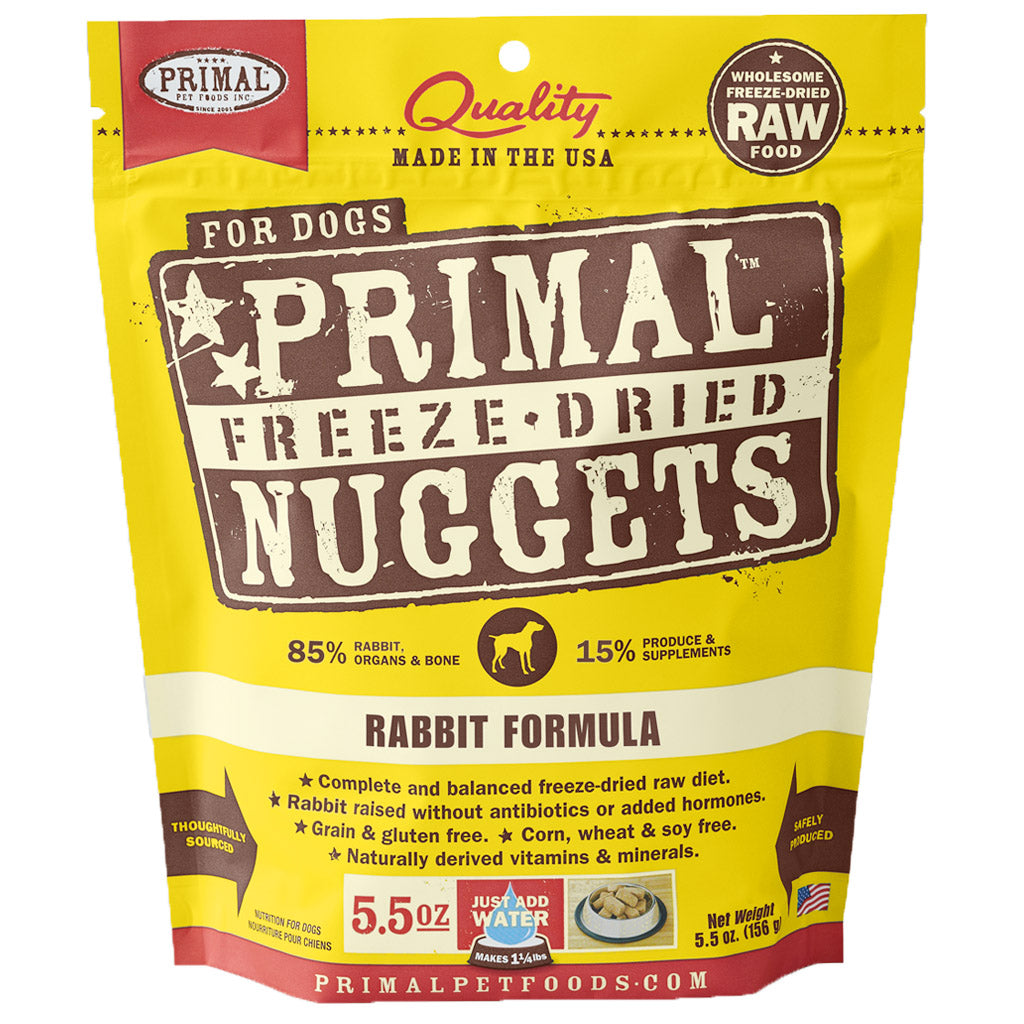 60% OFF: Primal® Freeze-Dried Nuggets Rabbit Formula Dry Dog Food 397g