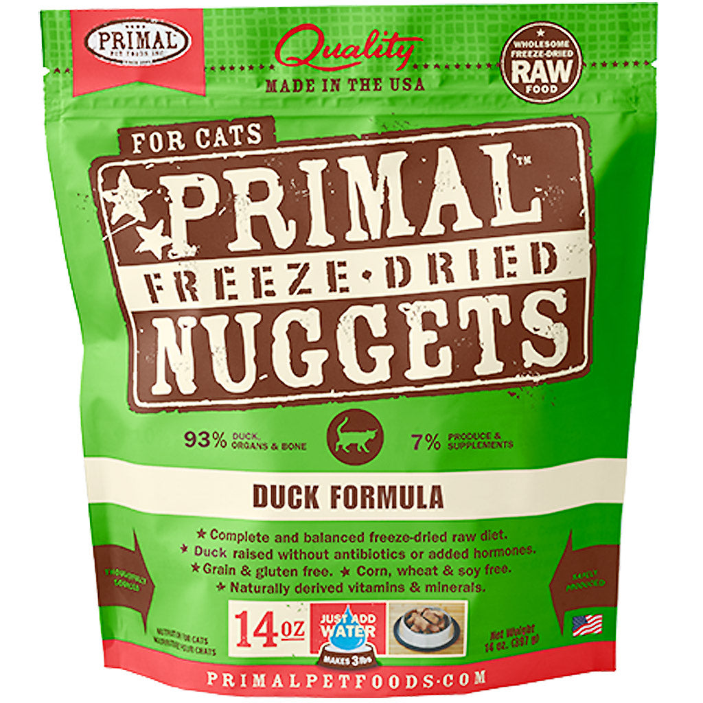 60% OFF: Primal® Freeze-Dried Nuggets Duck Formula Dry Cat Food 397g (14oz)