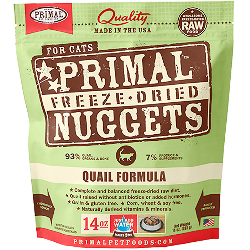 60% OFF: Primal® Freeze-Dried Nuggets Quail Formula Dry Cat Food 397g