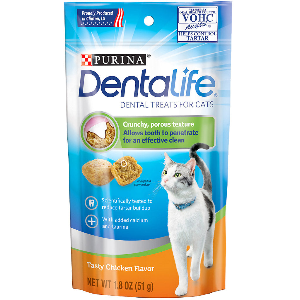 2 FOR $10 [SAVER]: Purina® DentaLife Tasty Chicken Dental Cat Treats (51g)