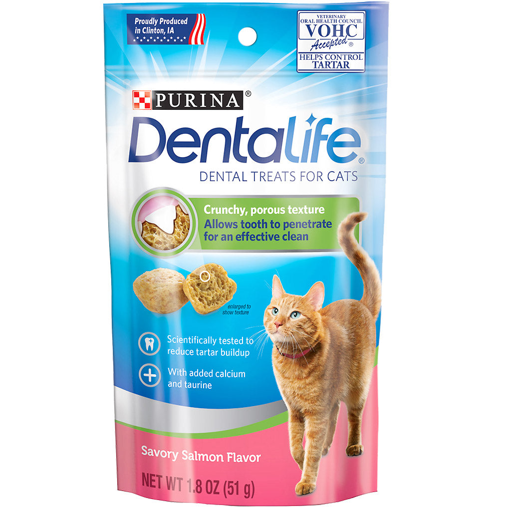 $5.50 ONLY: Purina® DentaLife Dental Cat Treats 51g (2 Flavours)
